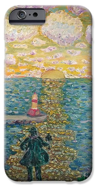 Chicago Paintings iPhone Cases - Chief Petoskey iPhone Case by Julie Stratton