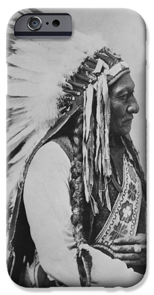 American History iPhone Cases - Chief Sitting Bull iPhone Case by War Is Hell Store