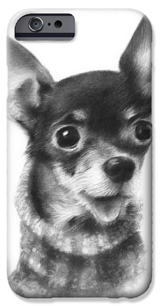 Puppies iPhone Cases - Chihuahua Pup iPhone Case by Natasha Denger