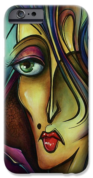 Mood Paintings iPhone Cases - Chil iPhone Case by Michael Lang