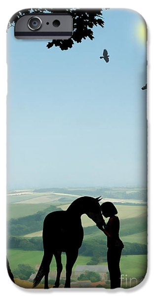Child iPhone Cases - Childhood Dreams The Pony iPhone Case by John Edwards