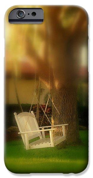 Garden Scene iPhone Cases - Childhood Memories iPhone Case by Susanne Van Hulst