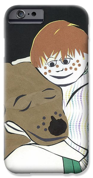 Cut-outs iPhone Cases - Childrens Poster #3 iPhone Case by Connie Thomas