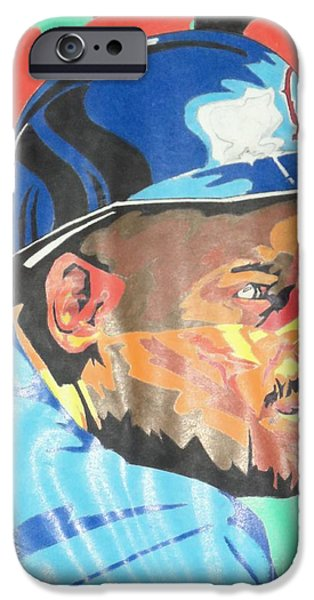 Baseball Pastels iPhone Cases - Chilli Davis iPhone Case by Damion Powell