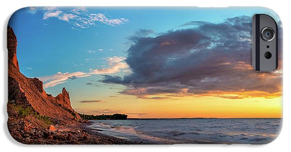 Colorful Cloud Formations iPhone Cases - Chimney Bluffs iPhone Case by Mark Papke