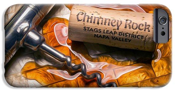 Wine Bottles iPhone Cases - Chimney Rock Uncorked iPhone Case by Jon Neidert