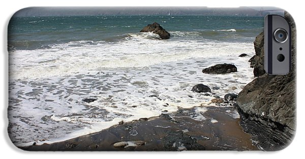 China Beach iPhone Cases - China Beach with Outgoing Wave iPhone Case by Carol Groenen