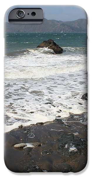 China Beach with Outgoing Wave iPhone Case by Carol Groenen