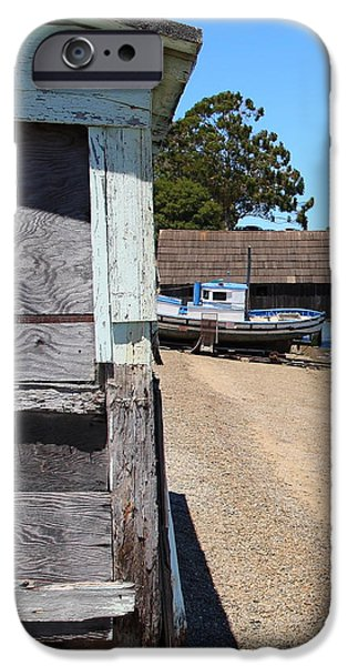 China Beach iPhone Cases - China Camp in Marin CA - vertical iPhone Case by Wingsdomain Art and Photography