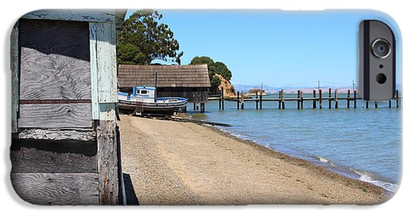 China Beach iPhone Cases - China Camp in Marin CA iPhone Case by Wingsdomain Art and Photography