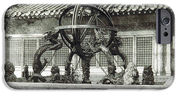 Heavenly Body iPhone Cases - Chinese Armillary Sphere, 1897 iPhone Case by British Library