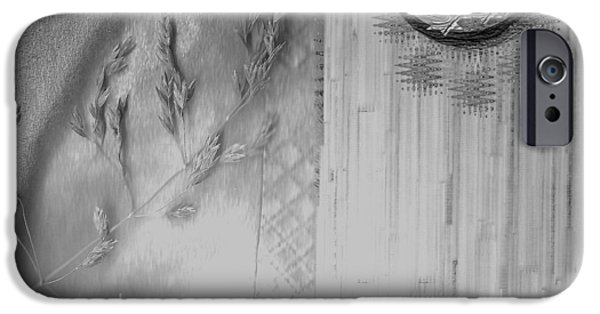 Contemplative Mixed Media iPhone Cases - Chinese Garden iPhone Case by Pepita Selles