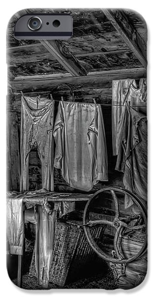 CHINESE LAUNDRY in MONTANA TERRITORY iPhone Case by Daniel Hagerman