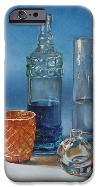 Water Jars Paintings iPhone Cases - Chip iPhone Case by Amanda Decker
