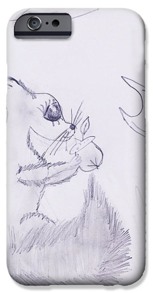 Chip Drawings iPhone Cases - Chip iPhone Case by Emily Richardson