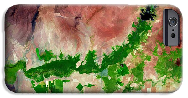 Technical Paintings iPhone Cases - Chira River Peru iPhone Case by Elaine Plesser