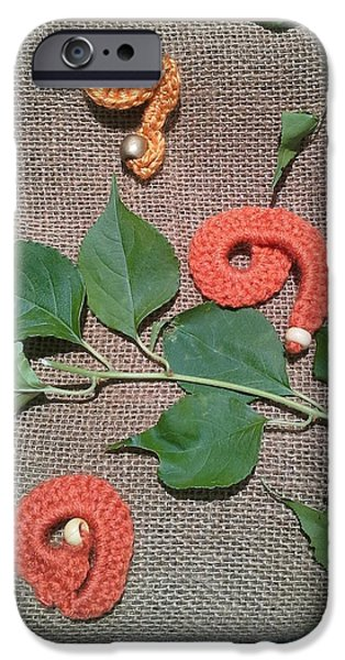 Fall Tapestries - Textiles iPhone Cases - Chit Chat Fall iPhone Case by Alicia Evans