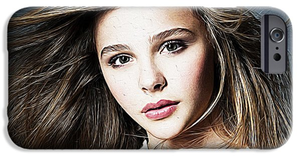 Cute Puppy iPhone Cases - Chloe Moretz iPhone Case by Queso Espinosa