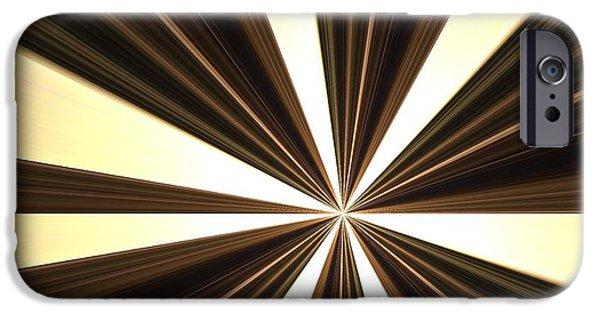 Stripes Pastels iPhone Cases - Choco Creme iPhone Case by Diane Leuzzi