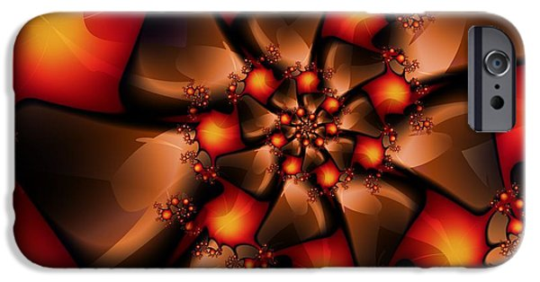 Michelle iPhone Cases - Chocolate Berry Burst iPhone Case by Michelle H