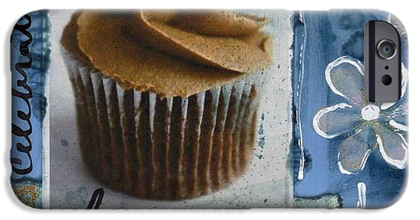 Frosting iPhone Cases - Chocolate Cupcake Love iPhone Case by Linda Woods
