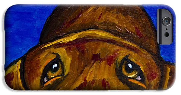 Chocolate Lab iPhone Cases - Chocolate Lab Nose iPhone Case by Roger Wedegis