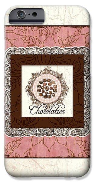 Hand-watercolored iPhone Cases - Chocolatier - Plate of Handmade Chocolate Candies iPhone Case by Audrey Jeanne Roberts