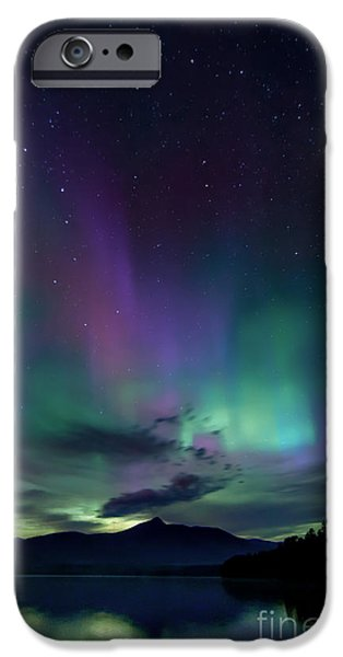 Mt Chocorua iPhone Cases - Chocorua Aurora iPhone Case by Scott Thorp