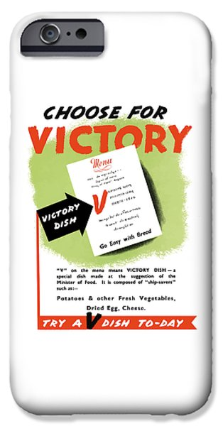 Ww1 iPhone Cases - Choose For Victory -- WW2 iPhone Case by War Is Hell Store