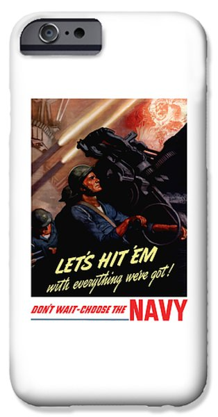 Navy iPhone Cases - Choose The Navy -- WW2 iPhone Case by War Is Hell Store