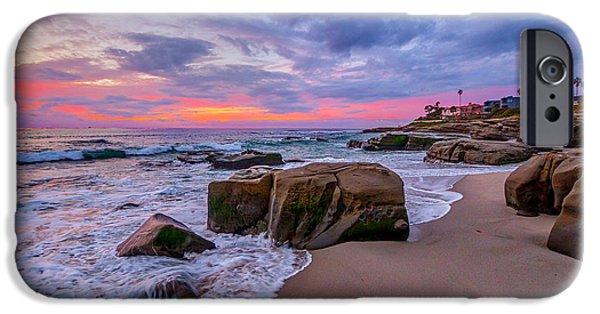 California Beach iPhone Cases - Chriss Rock iPhone Case by Peter Tellone