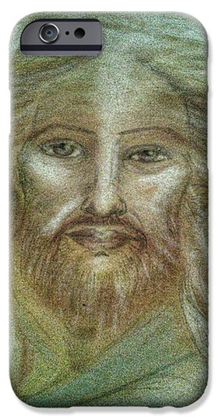 Son Of God Pastels iPhone Cases - Christ Consciousness iPhone Case by Jennifer Kamadon