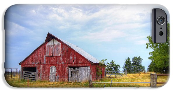 Old Barns iPhone Cases - Christian School Road Barn iPhone Case by Cricket Hackmann