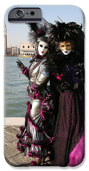 Fushia iPhone Cases - Christine and Gunilla Across St. Marks  iPhone Case by Donna Corless