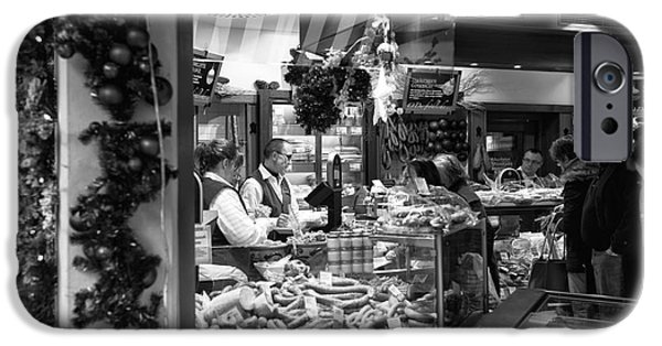 Christmas Eve iPhone Cases - Christmas Eve Food Shopping iPhone Case by John Rizzuto