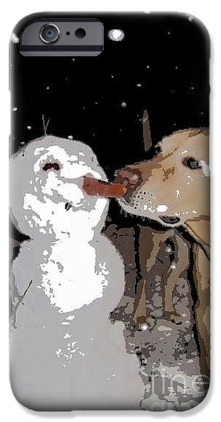 Snow iPhone Cases - Christmas Kisses iPhone Case by SnapHound Photography