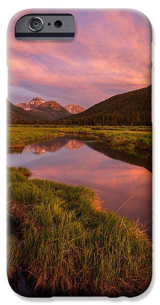 River iPhone Cases - Christmas Meadow iPhone Case by Dustin  LeFevre
