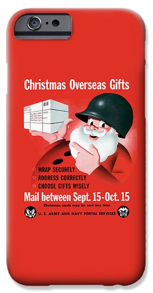 Christmas iPhone Cases - Christmas Overseas Gifts -- WW2 iPhone Case by War Is Hell Store