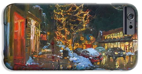 Christmas iPhone Cases - Christmas Reflections iPhone Case by Ylli Haruni