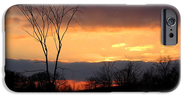 Snowy Day iPhone Cases - Christmas Sunset iPhone Case by Stephen  Killeen
