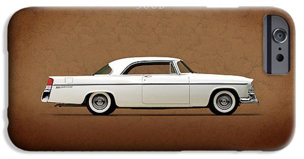 Chrysler iPhone Cases - Chrysler 300B 1956 iPhone Case by Mark Rogan