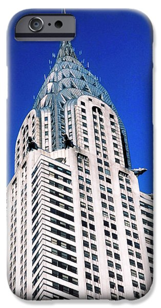Buildings iPhone Cases - Chrysler Building iPhone Case by John Greim