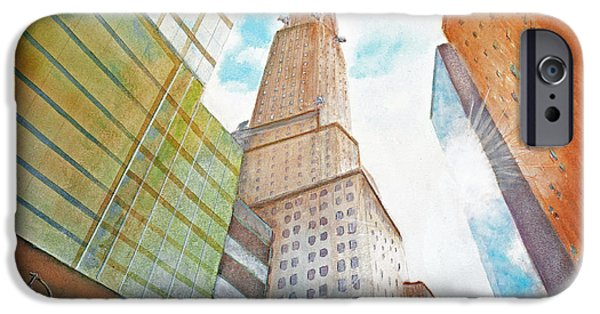 Twin Towers Nyc iPhone Cases - Chrysler Building iPhone Case by Ken Figurski