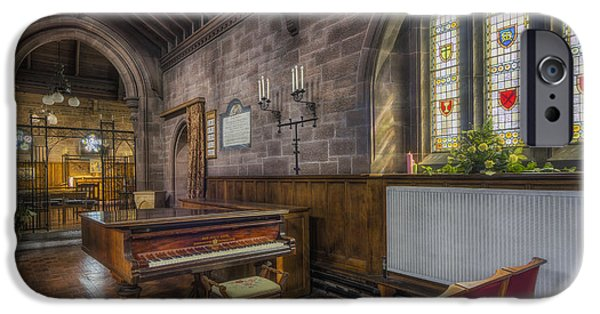 Piano iPhone Cases - Church Piano iPhone Case by Ian Mitchell