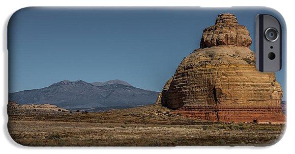 Holes In Sandstone iPhone Cases - Church Rock Utah iPhone Case by Paul Freidlund