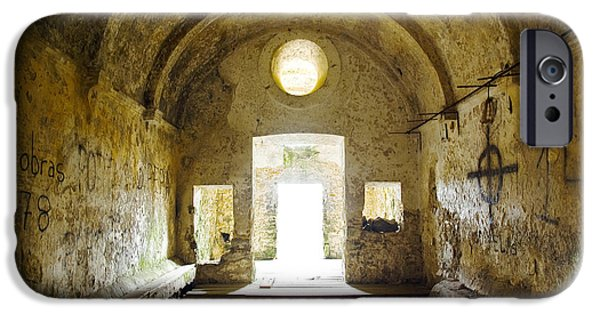Dungeons iPhone Cases - Church Ruin iPhone Case by Carlos Caetano