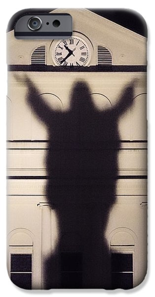 Consciousness iPhone Cases - Church Shadow iPhone Case by Garry Gay