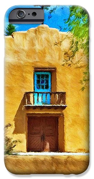 Church with Blue Door iPhone Case by Jeff Kolker