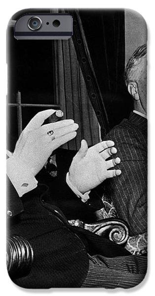 CHURCHILL & ROOSEVELT iPhone Case by Granger