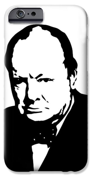 Politician iPhone Cases - Churchill iPhone Case by War Is Hell Store